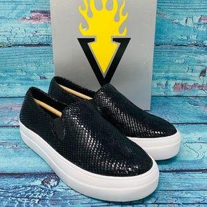VOLATILE Women's Bolzano Sneaker Black Snake Print